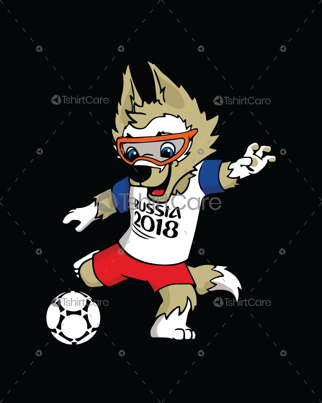 a131f39be Russia 2018 fifa World Cup mascot Zabivaka design t shirts