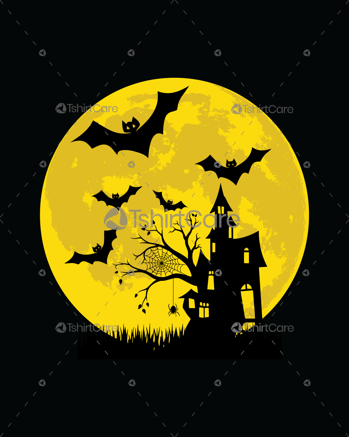 Halloween haunted house party premium T shirt design for happy ...