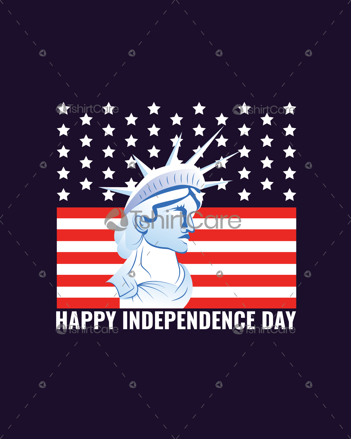 American Flag Statue Of Liberty T Shirt Design Usa