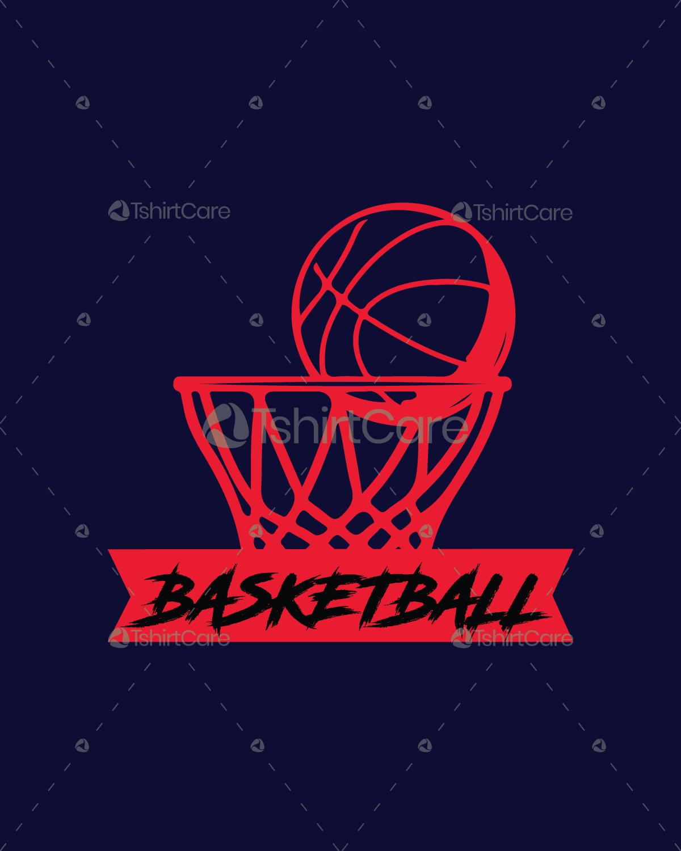 Basketball Net & Ball T Shirt & Shirt Design for Sports Mom & Dad ...