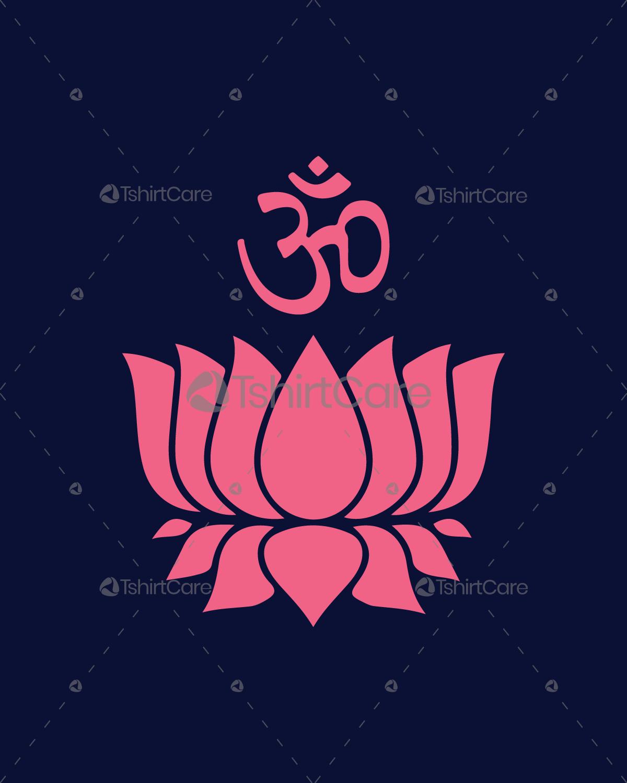Lotus flower with om symbol t shirt design yoga om lotus flower t lotus flower with om symbol t shirt design yoga om lotus flower t shirt for mens womens tshirtcare izmirmasajfo