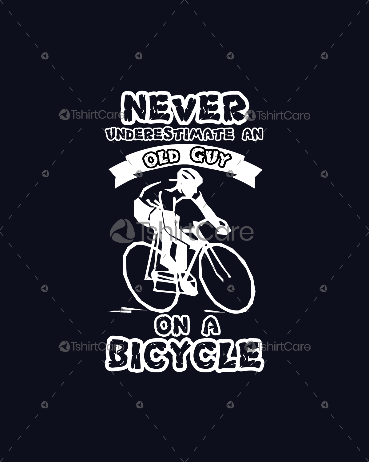 007880425bd2 Never underestimate an old guy on a bicycle T shirt Design for Cycling Men  & Women T-Shirt - TshirtCare