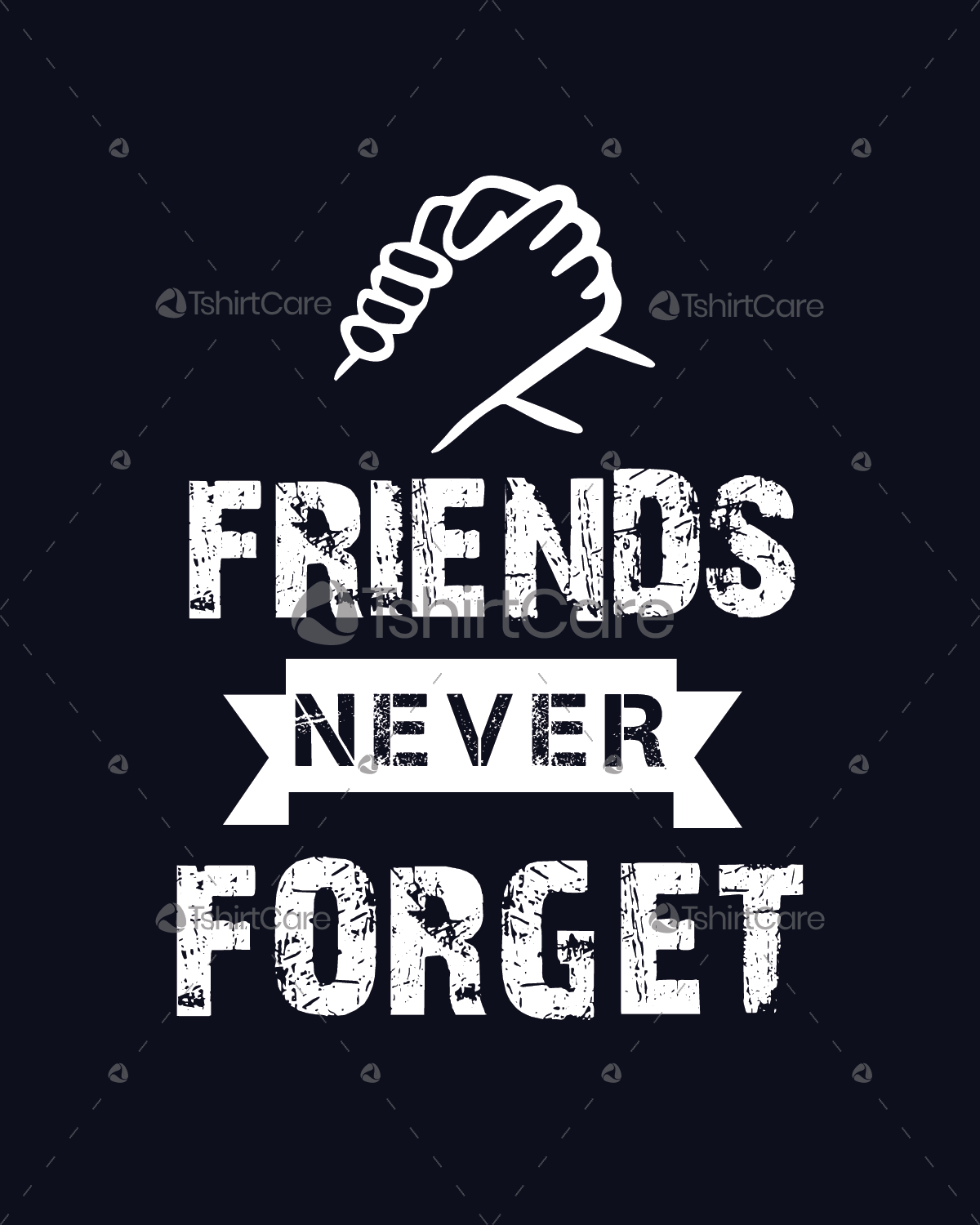 Best Friends Never Forget T Shirt Design Friendship Day Retro Tee