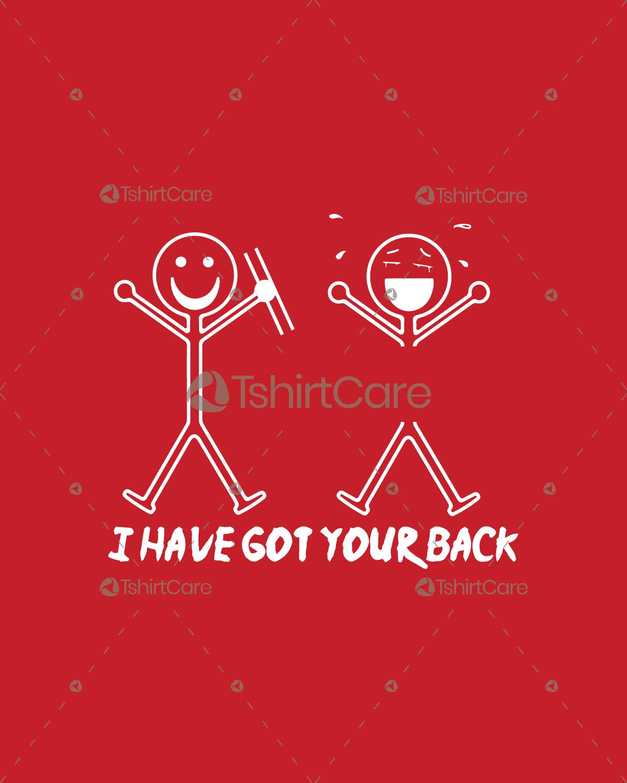 46813214b8 I've got your back T shirt Design Stick Figures Funny T-Shirts for Men,  Women & kid - TshirtCare