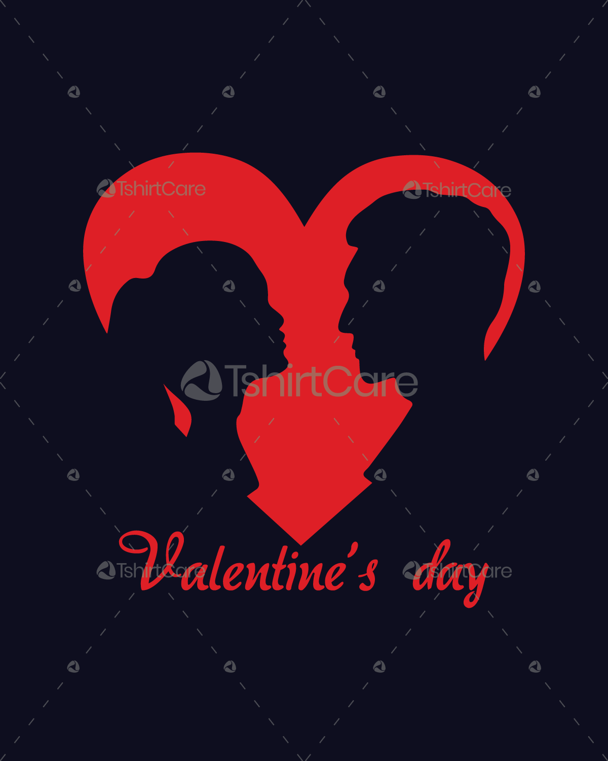 Valentines Day Heart Love Couple T Shirt Design For Event Boys
