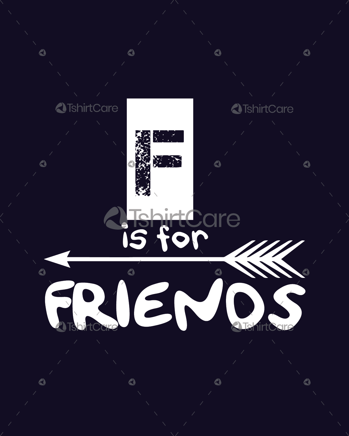 F Is For Friends T Shirt Design Friendship Day Matching Shirts For