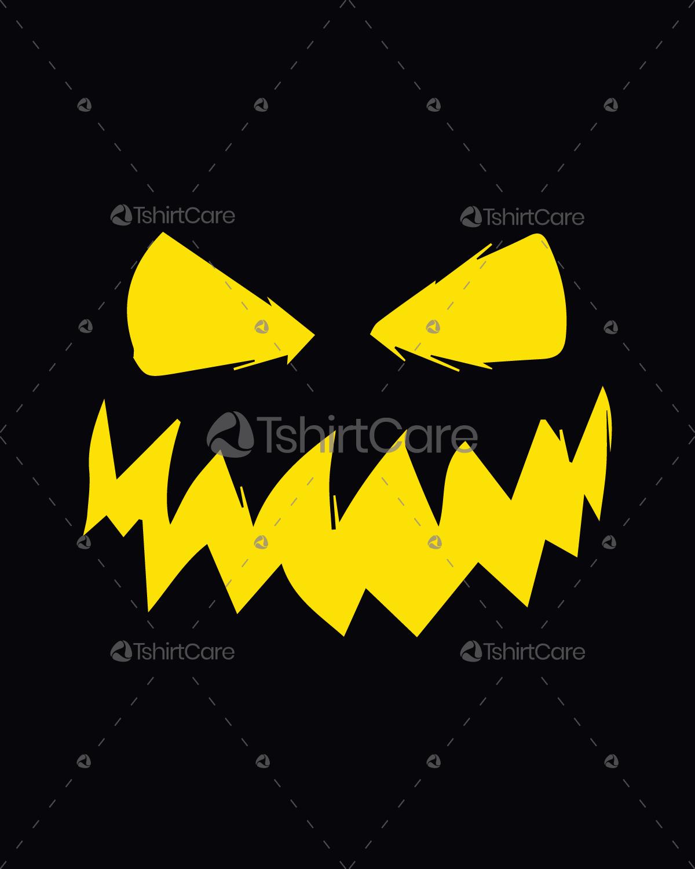 Halloween Pumpkin Face T Shirt Design Funny And Scary Halloween