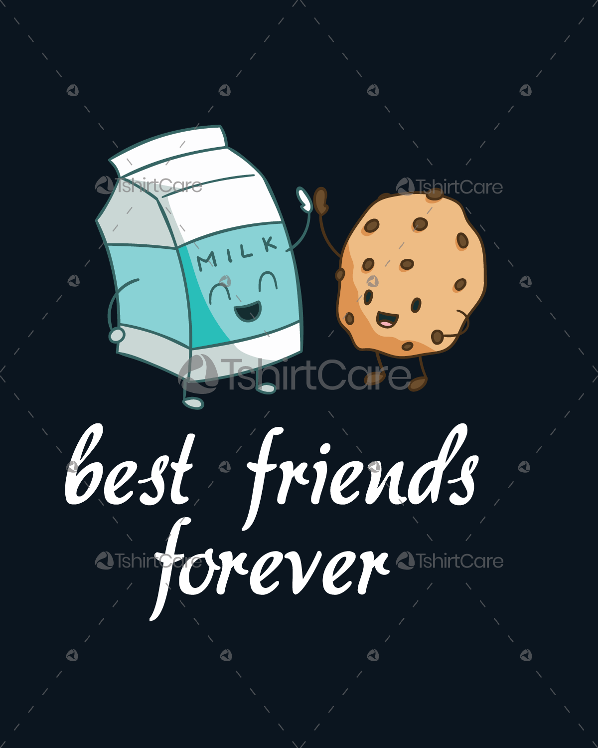 b7f8844c64 Milk and cookies friendship T shirt Design Best Friends Tee Shirts for Men  & Women - TshirtCare